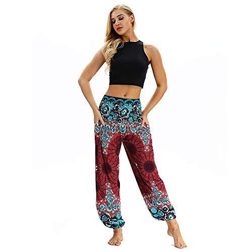 hahashop2 Super Weiche Laufhose Damen - Leggins Stretch-Hose Lauf-Tights für Schlüssel Yoga Haremshose Lässiger großer Hosen-Overall