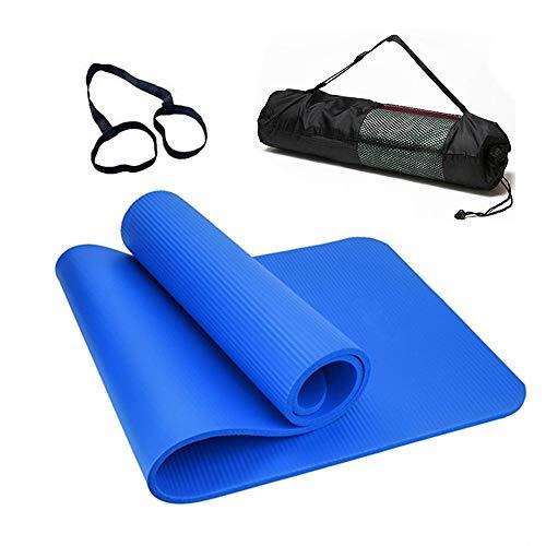 Smallrun Esterilla Yoga Esterilla Pilates Antideslizante 10mm Alfombrilla de Yoga Colchoneta de Yoga Esterilla Deporte Yoga Mat para Pilates Yoga Fitness 183x61cm (10MM-Azul)