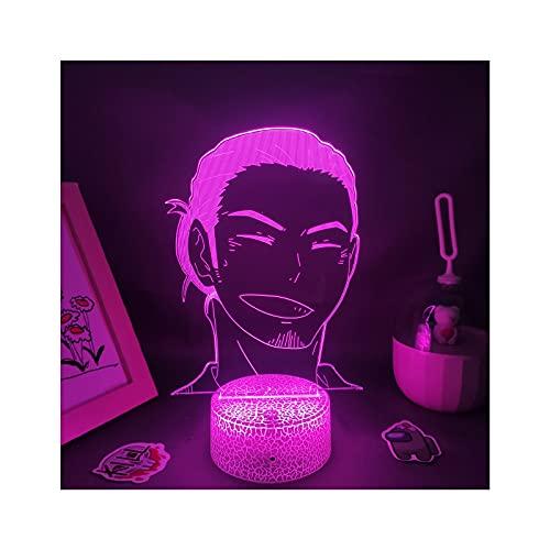 HOKVJ Haikyuu Anime Figura Asahi Azumane Lámparas 3D Led RGB USB Neón...