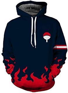 Anime Naruto Uchiha Men's Long Sl ve Hoodie sweatshirt Trendy Casual Loose Comfort Tops-XXL