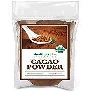 Healthworks Cacao Powder 8 Ounces | Cocoa Chocolate Substitute | Certified Organic | Sugar-Free, Keto, Vegan & Non-GMO | Peruvian Bean/Nut Origin