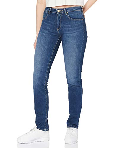 Wrangler Damen Slim Jeans, Blau (Authentic Blue 85U), W30/L34