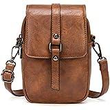 Bausweety Women Leather Crossbody Bag Cell Phone Small Shoulder Bag Cash Handbag Wallet Purse