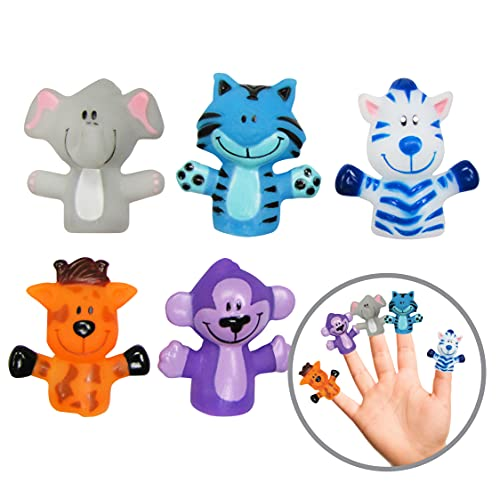 Idea Factory Farm Animal Finger Puppets - Party Favors  Educational  Bath Toys