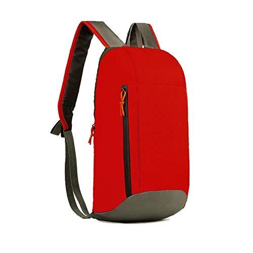 Léger Sac à Dos en Toile Pliable Sac à Dos étanche Sac Pliable Pack Portable for Femmes Hommes Voyage Sac à Main (Color : Red)