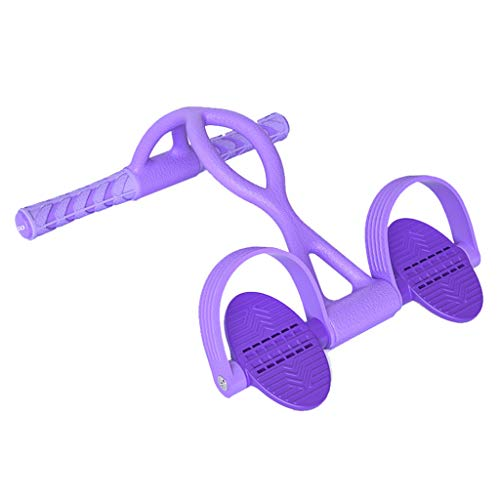 Lone-WY Banda de Resistencia del Pedal, ejercitador de Abdominales Pull up Pull up, Correa para Estirar Las piernas, Equipo de Ejercicios para Abdomen, Cintura, Brazo, piernas