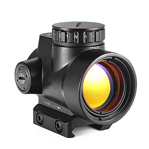 AJDGL Visor de Punto Rojo holográfico táctico: mira telescópica de Caza, Equipo de Francotirador Iluminado para Disparos con mira de Rifle táctico