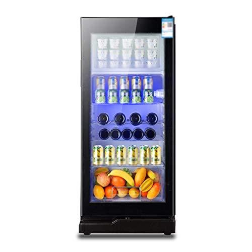 TAOKE Cave à vin - Boissons Réfrigérateur et Cooler 195L LED Bleu Light- bière réfrigérateur avec Porte en Verre et Lock, Can Cooler Bière, vin, Soda, Accessoires Chambre for Homme 8bayfa