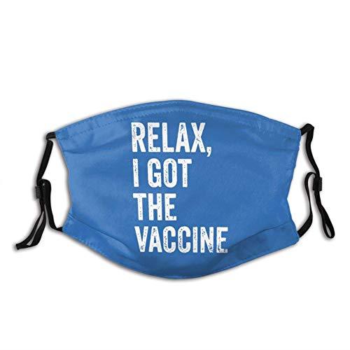 Relax, I Got the Vaccine Dust Wash Filtro reutilizable y reutilizable boca caliente a prueba de viento polvo algodón cara
