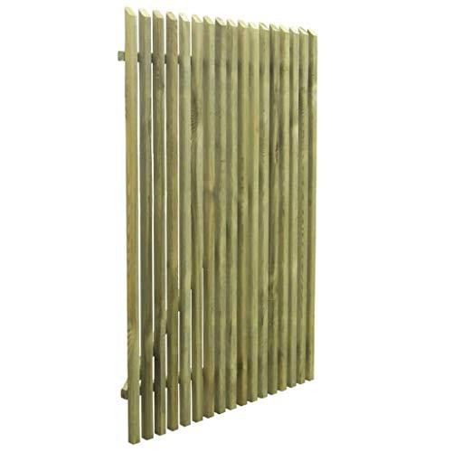 Tidyard Puerta para Jardín de Madera,Puerta de Valla para Jardín o Patio,Estilo Rústico,Madera de Pino Impregnada FSC 100x150cm