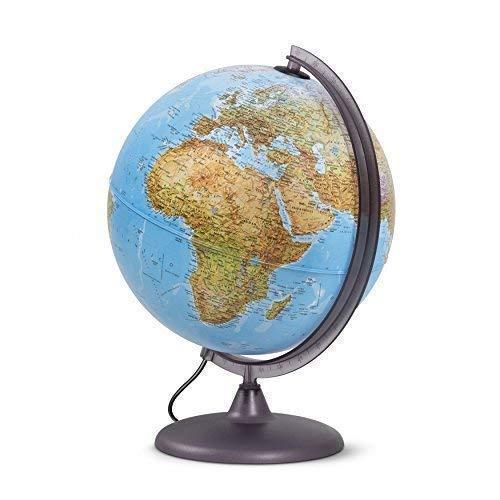 Globo luminoso per studenti, diametro 30cm, cartografia a doppia effetto, fisica e politica - in italiano