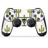 DeinDesign Skin kompatibel mit Sony Playstation 4 PS4 Controller Folie Sticker Pattern Dschungel Kaktus
