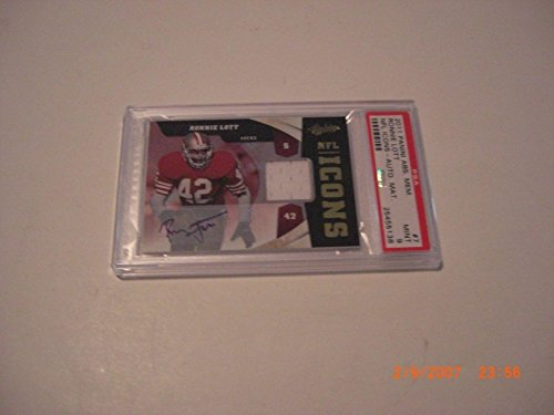 Ronnie Lott 2011 Absolute Mem. Nfl Icons Game Used Jersey Auto 1/25 Signed Card - Football Game Used Cards