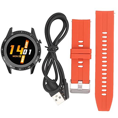 Oure Reloj Inteligente con Bluetooth, Resistente Pulsera Inteligente para Deportes, portátil Conveniente para Uso General para Uso Profesional para Deportes de Uso Diario(Orange)