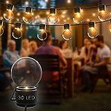 【GARANZIA A VITA】Catena Luminosa Esterno, 30 Bulbi, Luci Da Esterno, Luci giardino, Catene Luminose, Illuminazione Per Esterni, Catena Luminosa, Lampadine A Led. (30 LED)