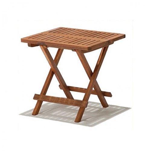 Garden Pleasure Beistelltisch Cleveland Holz Kaffeetisch Klapptisch 50x50cm Hartholz
