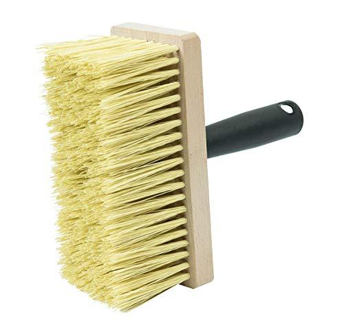 Connex Deckenbürste 17 x 7 cm - Aus Kunststoff-Borsten - Schwarzer Griff mit praktischem Eimerhalter - Zum Grundieren & Tapezieren / Quast / Malerbürste für Kleister / Tapezierzubehör / COX781598
