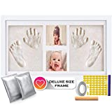 Deluxe Size Baby Hand and Footprint Kit - 16 x 9 inches Baby Picture Frame Kit |...