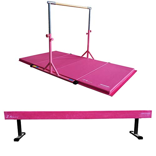 Z ATHLETIC Expandable Kip Bar for Gymnastics, 4ft x 8ft x 2in Mat,...