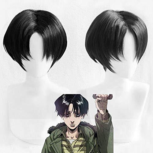 Killing Stalking Yoon Bum Yoonbum corto negro resistente al calor Cosplay disfraz peluca + gorro de peluca