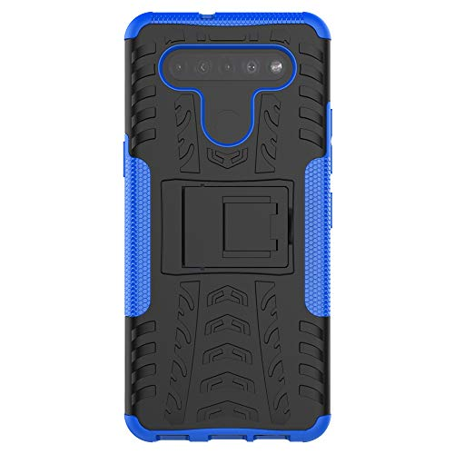 XINFENGDI LG K41S/K51S Hülle,Handytasche Kratzfest aus TPU/PC Material Reifenprofil Handyhülle Kompatibel mit für LG K41S/K51S - Blau