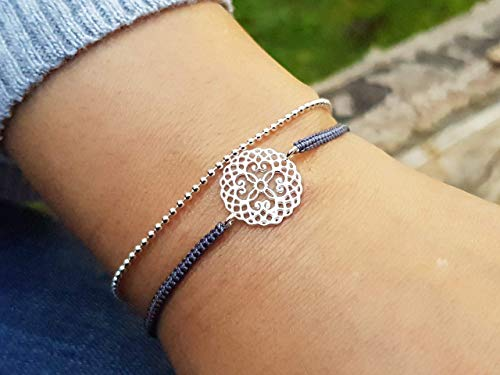 Glieder-armband Mandala 925 geburtstag, silvester