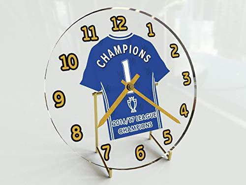 Chelsea Football Club?Barclays Premier League Champions 2016/17?GEDENKMÜNZEN Desktop-Uhr?Marke neue Acryl Shirt Design.