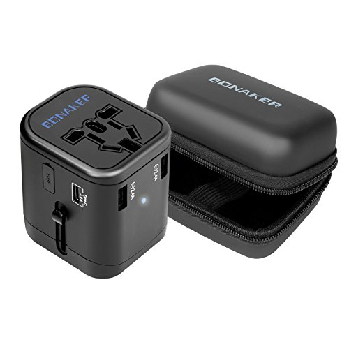 Bonaker Universal Travel Adapter Power Converters All-in-One International AC...