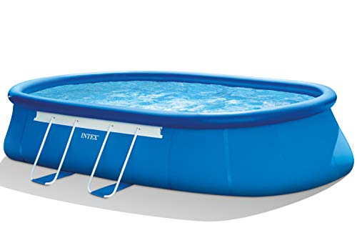 Intex Oval Frame Pool Set - Aufstellpool - 610 x 366 x 122cm - Zubehör enthalten