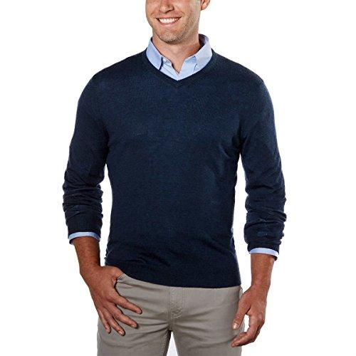 Calvin Klein Men's V-neck Merino Wool Sweaters