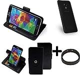 K-S-Trade® Case Schutz Hülle Für UMIDIGI C2 + Bumper Handyhülle Flipcase Smartphone Cover Handy Schutz Tasche Walletcase Schwarz (1x)