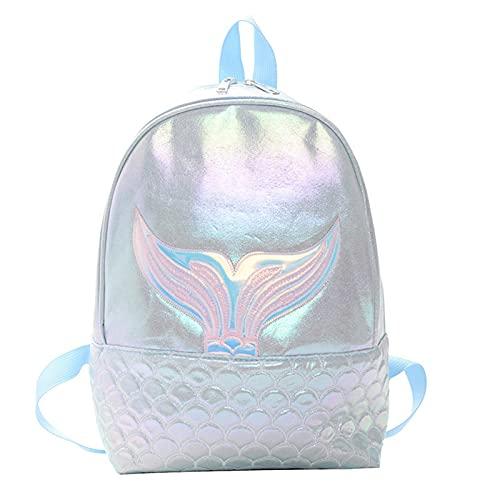 Mochila escolar para niñas y niños Fantasy cola de pez impermeable Durable Casual Basic Mochila para estudiantes