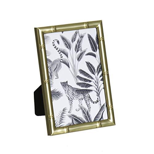 Home Gadgets Bilderrahmen, Bambus, goldfarben, 10 x 15 cm