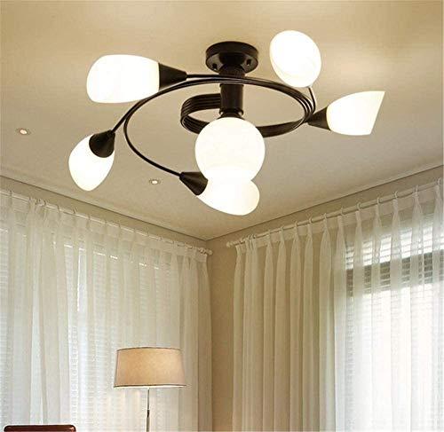 Lámpara decorativa de techo de cristal de hierro forjado, estilo industrial, moderno, retro, lámpara de techo