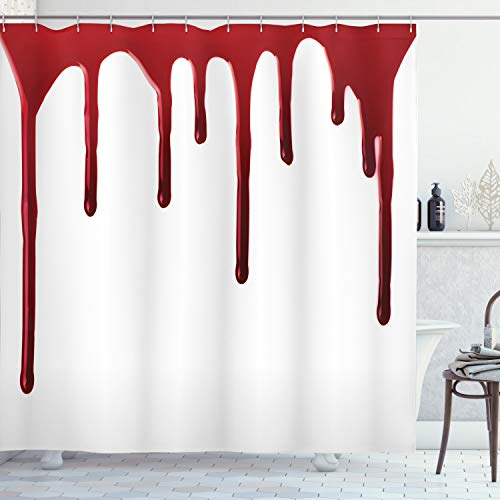 blood spatter shower curtain - 7