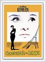 ポスター アーティスト不明 オードリー・ヘプバーン パリの恋人 額装品 ウッドハイグレードフレーム