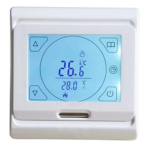 Controladores de temperatura de visualización digital Controlador de temperatura del suelo de calentamiento, LCD Programable Habitación digital Calefacción Termostato Termostato Pantalla táctil