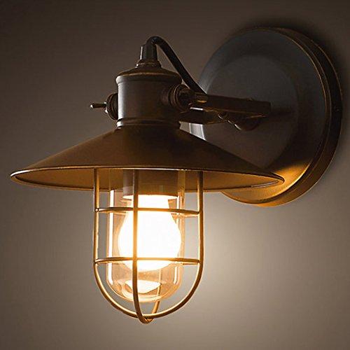 Meters Industrieller Retro-Design Wandlampe Gang Treppe kreative Persönlichkeit Eisen Vogelkäfig Wandlampe Nachttischlampe einfach CB-7261 antike Farbe Schmiede
