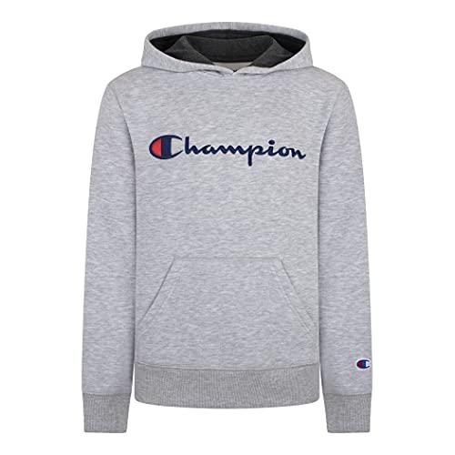 Champion Kids Clothes Sweatshirts Youth Heritage Fleece Pull On Hoody Sweatshirt with Hood (Medium, Heritage Oxford Heather)