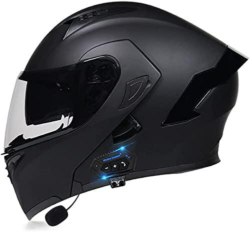 Motorbike Helmet Cascos abiertos Cascos integrales abatibles para motocicleta Casco abatible para motocicleta Auriculares Bluetooth integrados Casco modular abatible con gafas Walkie Talkie Casco apro