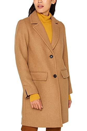 ESPRIT Damen 099Ee1G018S Mantel, Braun (Camel 230), Large (Herstellergröße: L)