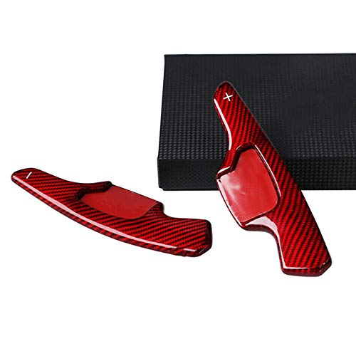 FLJKCT 2 Piezas Izquierda y Derecha del Volante del Coche Shift Paddle Shifter Extension Fibra de Carbono, Apto para Ford Taurus Mondeo, para Lincoln