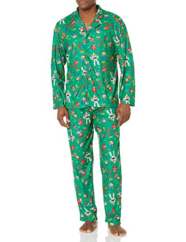 Disney Men's Toy Story Holiday Family Sleepwear Collection, Christmas Green (Adult), S