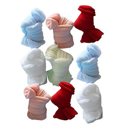TENDYCOCO 10 Paar Kleinkind atmungsaktive Socken dünne Sommer Baby Socken Knöchel einfarbige Socken für Unisex Baby Kleinkind