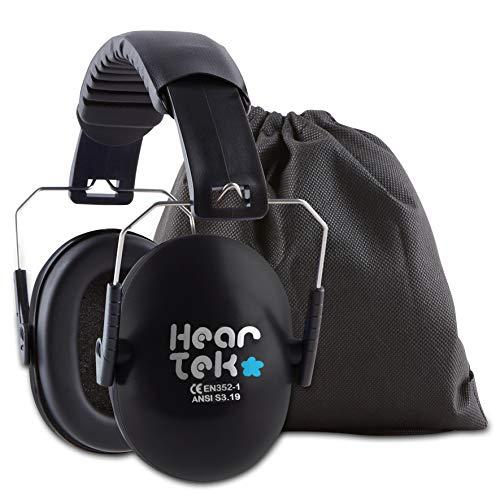HearTek Casque anti-bruit pour enfants Avec housse de transport Protecteur auditif Pour junior,...