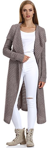 Merry Style Damen Strickjacke H4Z3L (Mokka, L/XL)