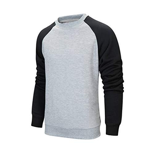 KPILP Herren Mode Hoodie Oversize Kapuzenpullover Langarm Winter Warm Mantel Contrast Patchwork Pullover Hooded Sweatshirt in Vielen Farben Unisex