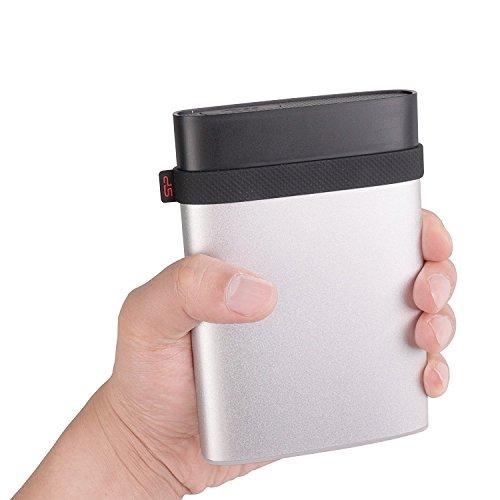 シリコンパワーポータブルHDD1TB2.5インチUSB3.0対応Mac対応IP68防塵防水耐衝撃3年保証アルミケース採用ArmorA85MSP010TBPHD85MS3S