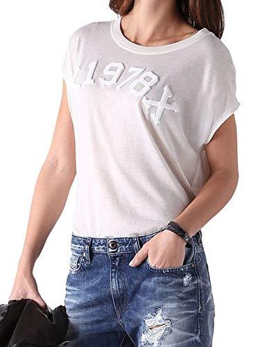 Diesel T-Zola-S T-Shirt Camiseta Mujer (XS, Crema)