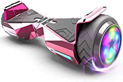 NEW HOVER BOARD SKINS: Made with durable Material, Chrome Cyber-truck style. HOVERBOARD PATINETAS ELECTRICAS FEATURES: Electronic Based Hoverboard, Very sturdy- Supporting up to 165 lbs., Impeccable Speed Controlled by Rider, 2 LED Light Up Flash Whe...
